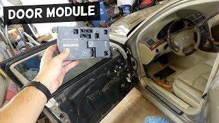 Video MERCEDES W211 DOOR MODULE COMPUTER REPLACEMENT REMOVAL download MP3, 3GP, MP4, WEBM, AVI, FLV Oktober 2018
