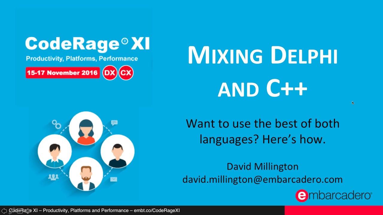 Mixing Delphi and C++ - Blog - Developer Tools - IDERA Community