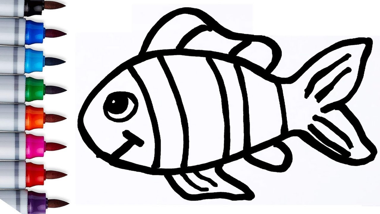 Cara Menggambar Ikan Dan Mewarnai Pelangi Belajar Warna Untuk Anak Tk Paud Dan Sd Learn Colors Youtube
