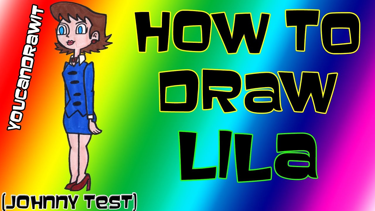 How To Draw Lila from Johnny Test  YouCanDrawIt  1080p HD