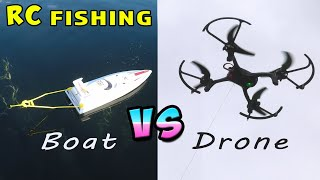 Fishing with RC Boat & Drone EPIC FAIL!