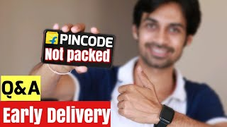 Flipkart Amazon Early Delivery ⚡ Pincode Trick, COD Problem, Item Not Packed Q&A   👍 2500 LIKES