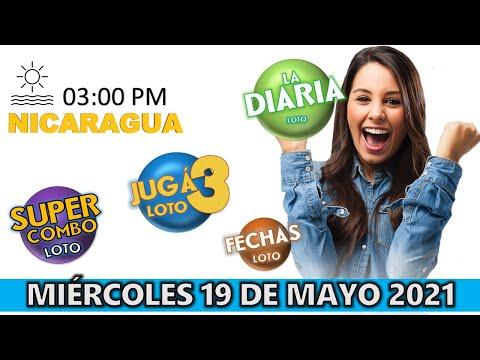 Sorteo 03 Pm Loto NICARAGUA, La Diaria, Jugá 3, Súper Combo, Fechas, Miércoles 19 De Mayo 2021 ✅🥇 🔥💰