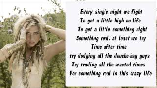 Ke$ha - Crazy Beautiful Life Karaoke / Instrumental with lyrics on screen