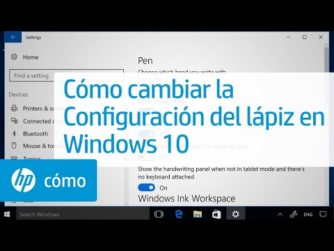 Cómo cambiar la Configuración del lápiz en Windows 10 | HP Computers | HP