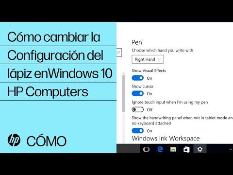Cómo cambiar la Configuración del lápiz en Windows 10   HP Computers   HP