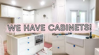 OUR KITCHEN CABINETS GOT INSTALLED!! | ELA BOBAK