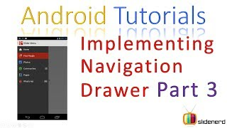 36 Android Navigation Drawer Tutorial Part 3: Android Fragments Tutorial HD 1080p