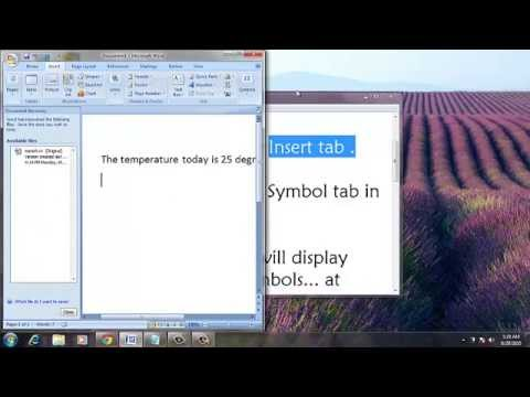How To Insert The Degree Symbol In Microsoft Excel – Degree in Microsoft Word