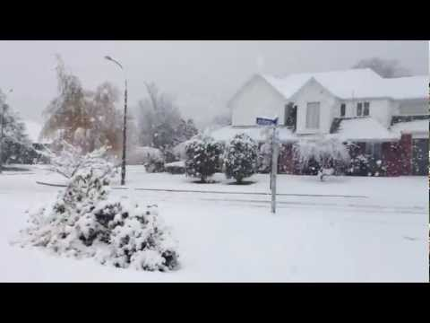 Snow In Christchurch, New Zealand