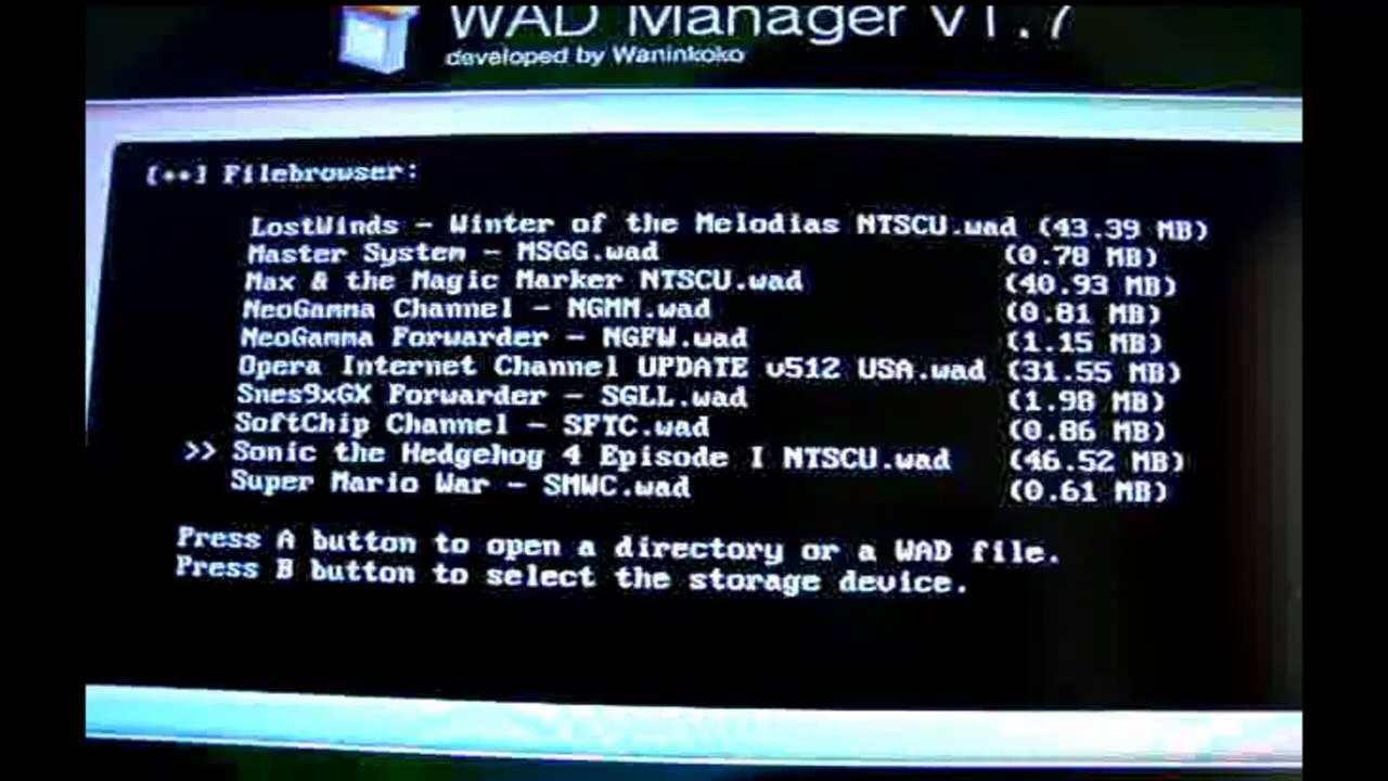 Image result for wad manager vwii