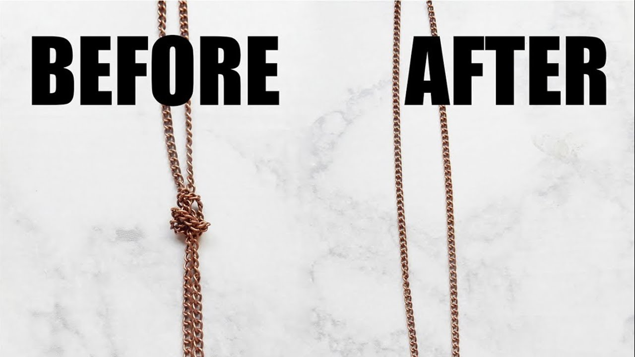 Jewelry Hack: How to untangle chain necklaces fast!