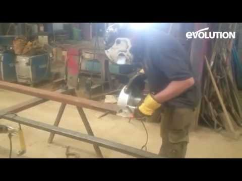 "Evolution Rage230 Circular Saw : Cut 25mm / 5"" thick steel bar"