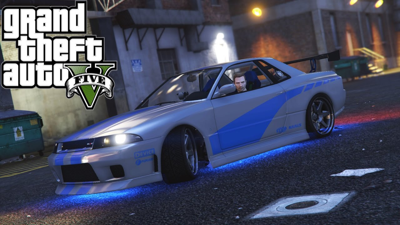grand theft auto 5 2 fast 2 furious car build skyline gtr r34 - Fast And Furious Cars Skyline
