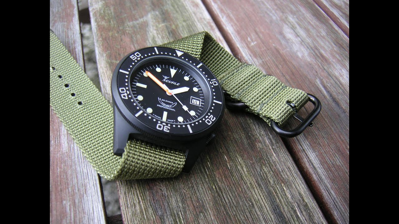 satin black squalematic watches squale atmos satblk