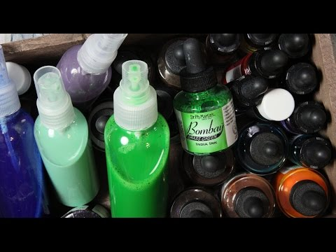 Making Spray Inks With Acrylic Paint