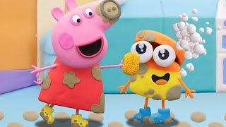Peppa Pig Official Channel | Doh-doh and Peppa Pig's Puddle Jump | Play-Doh Show Stop Motion