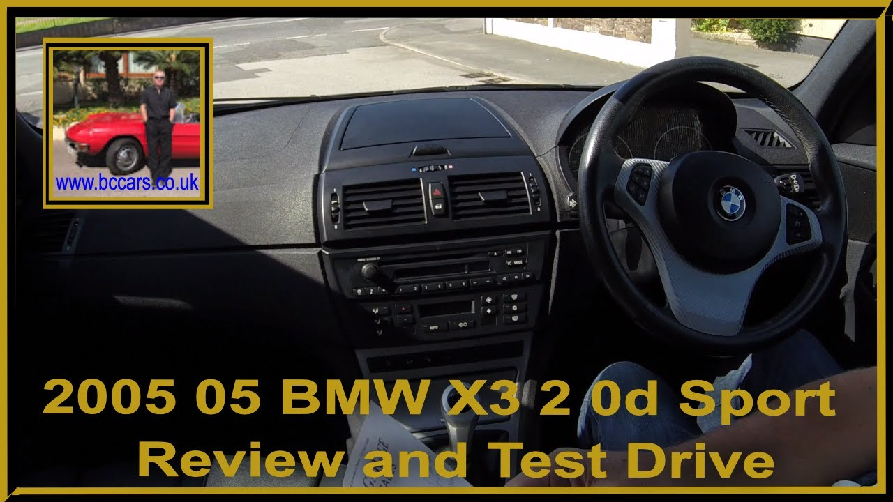 Virtual video test drive in our 2005 05 bmw x3 2 0d sport