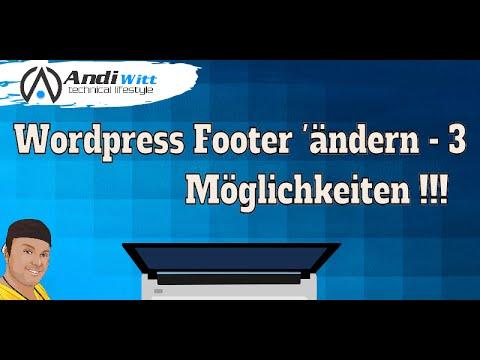 Wordpress Impressum Footer ändern - Einfach - YouTube