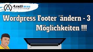 Wordpress Impressum Footer ändern - Einfach Mp3
