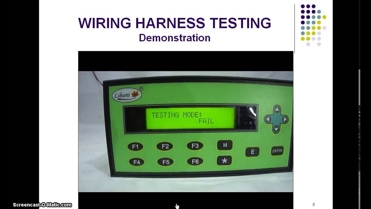wiring harness testing youtube rh youtube com automotive wiring harness tester wiring harness testing machine