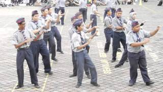 FUNNIEST Malaysian Scout Marching w/ FOX SONG !!