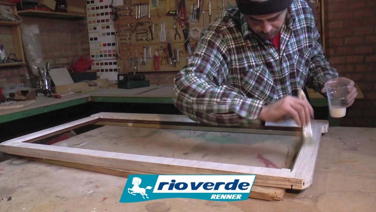 Verniciare il legno di una vecchia specchiera  Riciclo creativo  YouTube