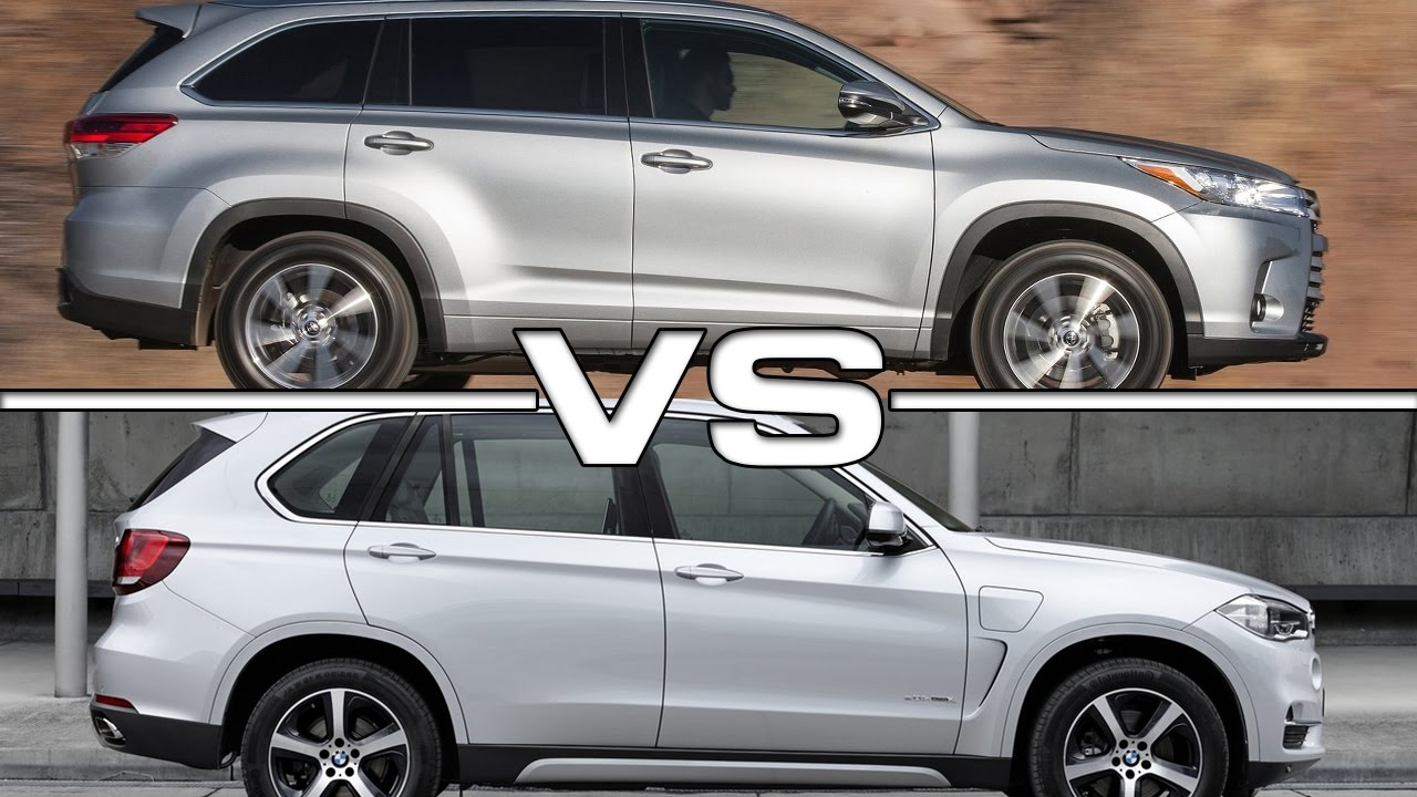 2017 Toyota Highlander Vs 2016 Bmw X5