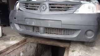 Как снять передний бампер на Рено Логан (Renault Logan) и Лада Ларгус(Видео обзор по снятию и установке переднего бампера на автомобилях Рено Логан и Лада Ларгус своими руками., 2015-07-28T12:48:11.000Z)
