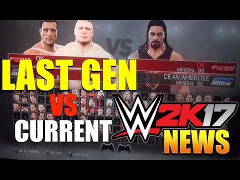 WWE 2K17 News: LAST- GEN Full Features, UPDATE!, GAMEPLAY Shown, VS Current Gen COMPARISON + More!
