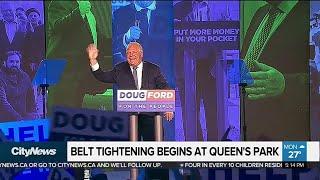 Belt tightening begins at Queen's Park