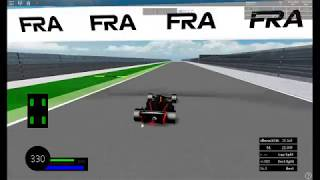 First time playing FRA a Roblox Formal one car racing game