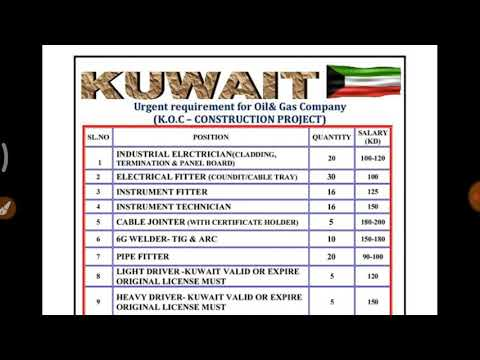 kuwait job for all work