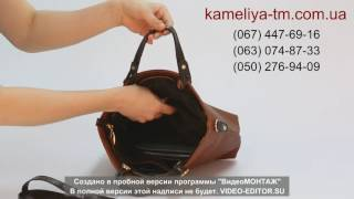 """Видеообзор женской деловой сумки """"Камелия"""" (модель 61)"""