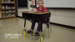 Bouncy Bands help students wiggle while they work.