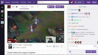 SKT T1 Faker  Live Stream LOL - Hide on Bush  / SK Telecom 1