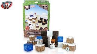 Minecraft: Overworld Snow Biome Papercraft Toy Review, Jazwares