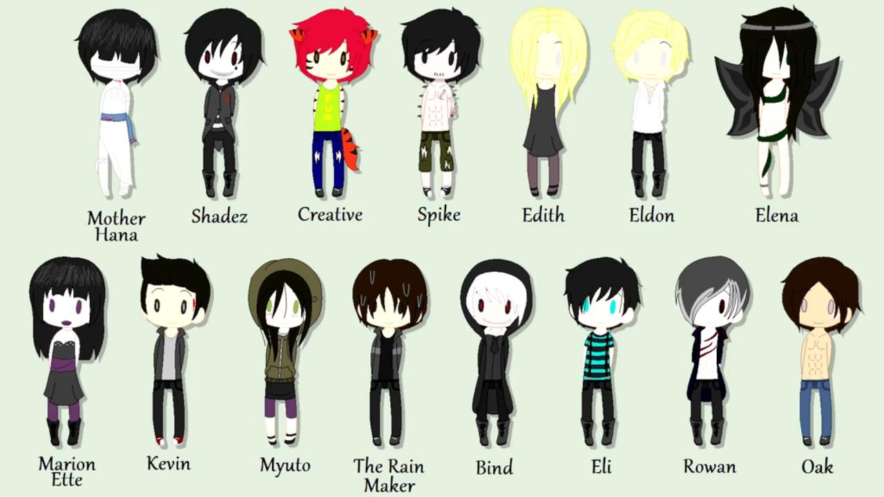 персонажи крипипасты и их имена костюм