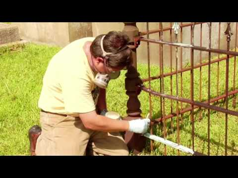 NCPTT Iron Fence Repair - Cemetery Monument Conservation