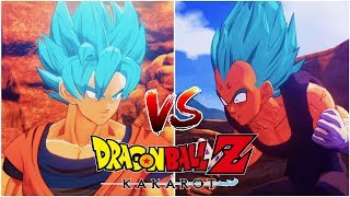 Super Saiyan Blue Goku vs Super Saiyan Blue Vegeta - DRAGON BALL Z KAKAROT Gameplay