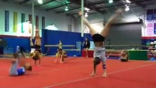 JAG team girls warm up