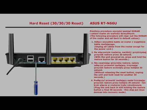 """Hard Reset"""" znany również, jako """"30/30/30 Reset"""" (ASUS RT-N66U"""
