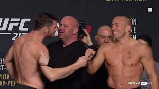 ufc 217 weigh ins and face offs bisping v gsp