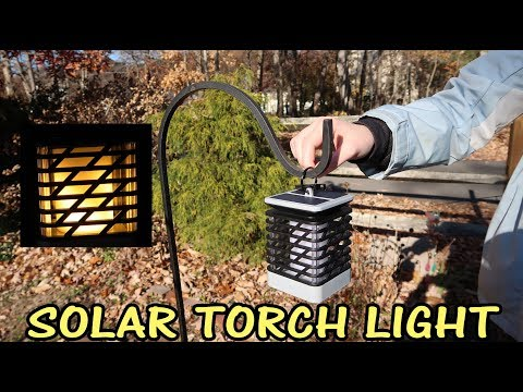 💥 SOLAR LANTERN ESPIER FLICKERING FLAME🌞LED TORCH LIGHTS OUTDOOR LIGHTING REVIEW 👈