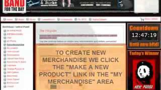 Free Indie Band Merchandise Shop - Earn Income For Your Band.mov