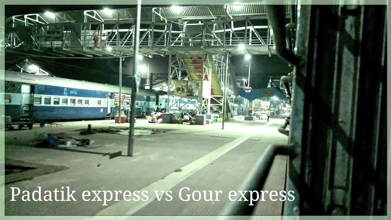 Epic parallel action in Indian railway! 12377 padatik express vs 13153 gour  express |