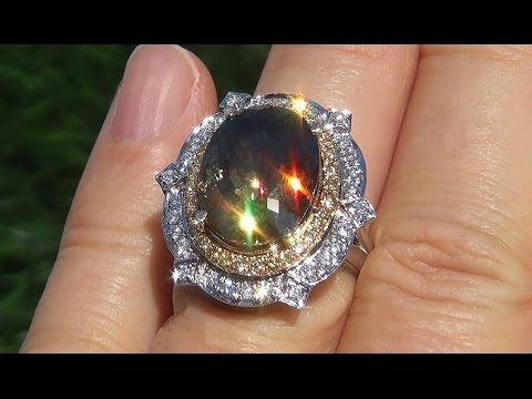 Demantoid Garnet Gold Ring