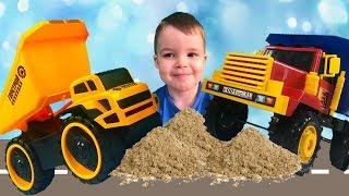 Машинки для мальчиков - Не Поделили Песок - Видео С Машинами Для Детей