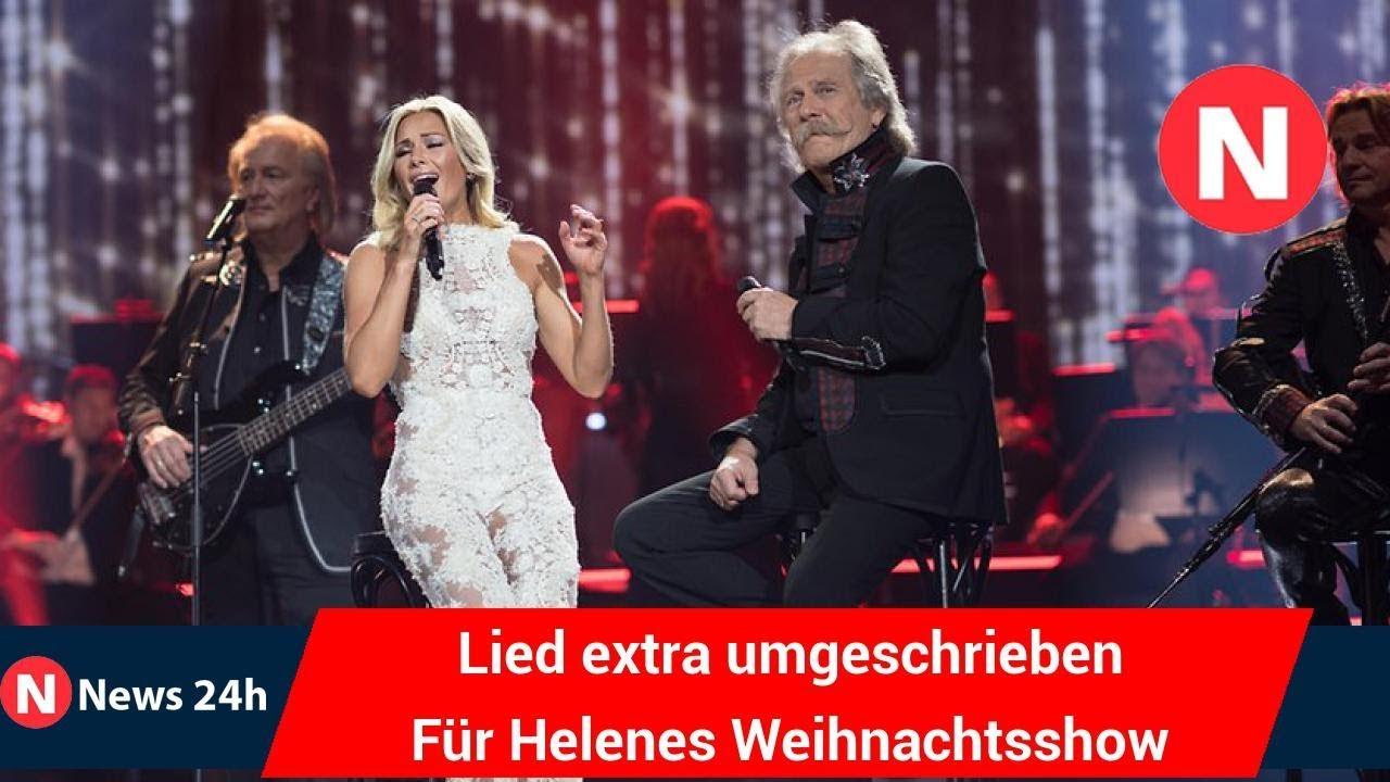 Lied extra umgeschrieben Für Helenes Weihnachtsshow singen die ...