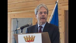 Intervento del Presidente Gentiloni a Bolognola (Macerata)